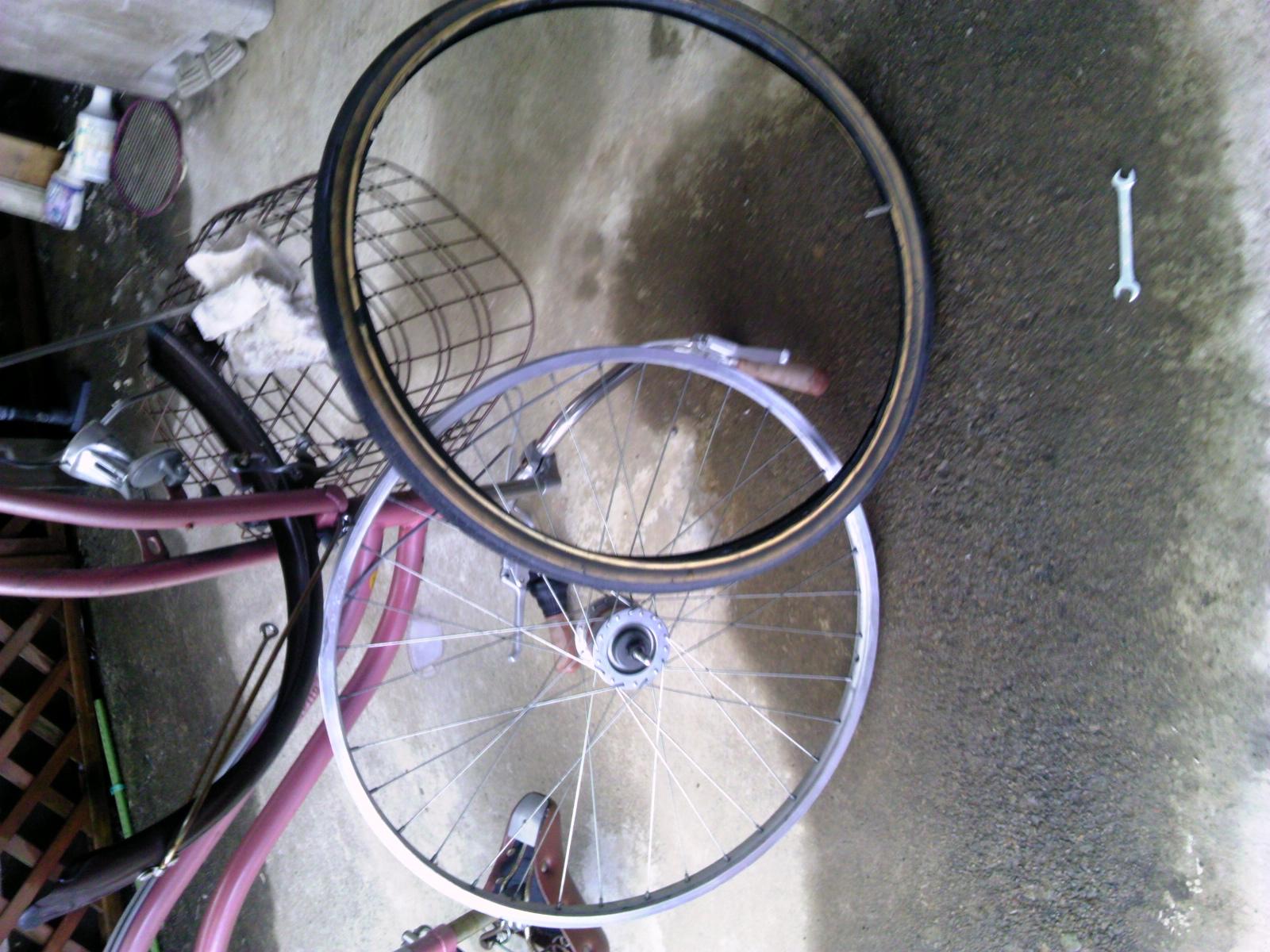自転車タイヤ交換7