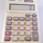 電卓の税率変更の方法(CASIO MW-8T/MW-10ET/JF-120VB)